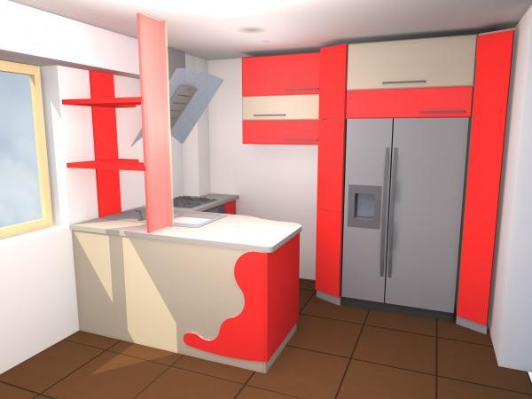 Mobilier Proiect 3D-Mobila Bucatarie